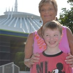 Gigi and Caden (Space Mountain in the background)