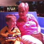 Gigi with Caleb on the PeopleMover