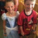 Avery& Caden in line at Peter Pan